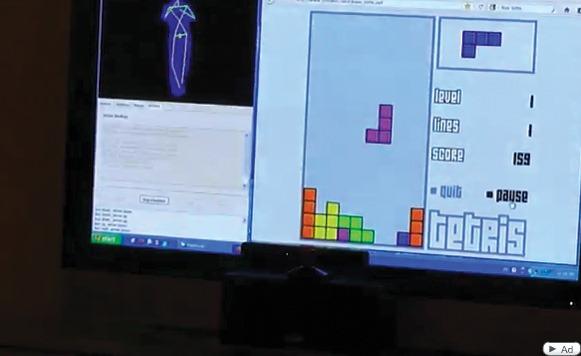 Kung Fu Tetris con Kinect y FAAST (por Pulpo Caivano)