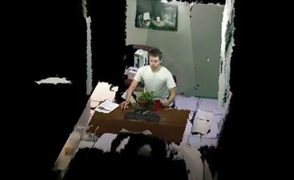 Telepresencia 3D en tiempo real con cuatro Kinects (por Pulpo Caivano)