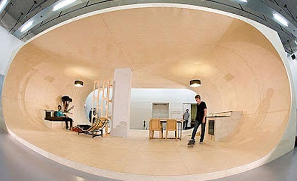 La casa ideal para un Skater (Por Iohanna Küppers gentileza de Martín Ferreyra)