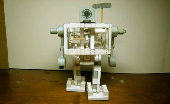 Cómo hacer un robot de papel que funciona sin pilas (por Manuel Cosío y Pulpo Caivano)